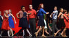 """The cast circles Stu Weitz as he sings, """"Rudolph the Red-Nosed Reindeer,"""" during rehearsal Dec. 15, 2016. (Bob Raines--Digital First Media)"""