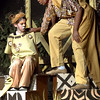 """Mufasa (Zack Ford) talks to his son, Simba (Julia Boas), about the future and being a king during the Mar. 9, 2016  rehearsal for the Sandy Run Middle School production of """"Lion King, Jr."""" // Bob Raines--Digital First Media"""