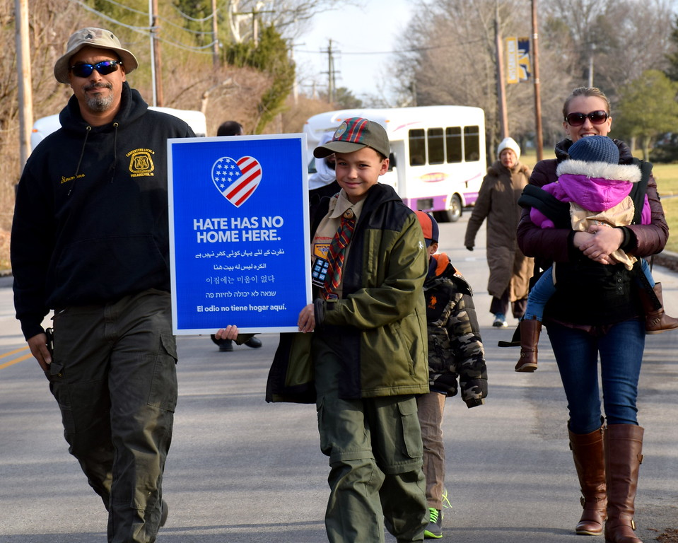 . The Wissahickon Faith Community sponsored a Solidarity Walk for Peace and Justice Jan. 15. Debby High - For Digital First Media