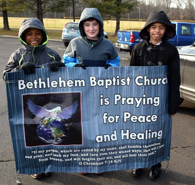 . The Wissahickon Faith Community sponsored a Solidarity Walk for Peace and Justice held Jan. 15. Debby High - For Digital First Media