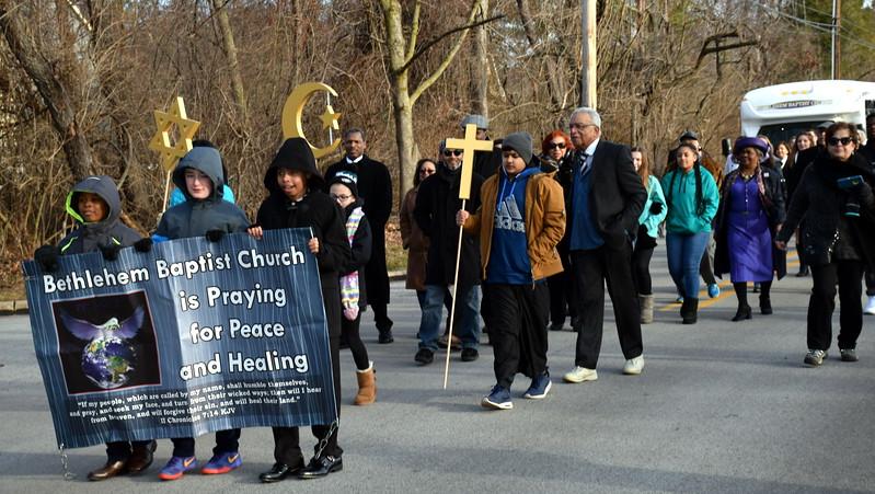 The Wissahickon Faith Community Solidarity Walk started at Wissahickon High School and ended at Bethlehem Baptist ChurchJan. 15. Debby High - For Digital First Media