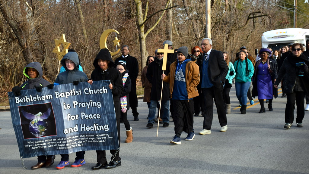 . The Wissahickon Faith Community Solidarity Walk started at Wissahickon High School and ended at Bethlehem Baptist ChurchJan. 15. Debby High - For Digital First Media