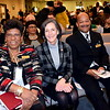 Vanessa Brown, of Bethlehem Baptist Churc Deacons Ministry, left; Montgomery County Commissioner Dr. Valerie Arkoosh; and James Wallace attend the Wissahickon Faith Community's 21st annual communitywide service Jan. 15. Debby High - For Digital First Media