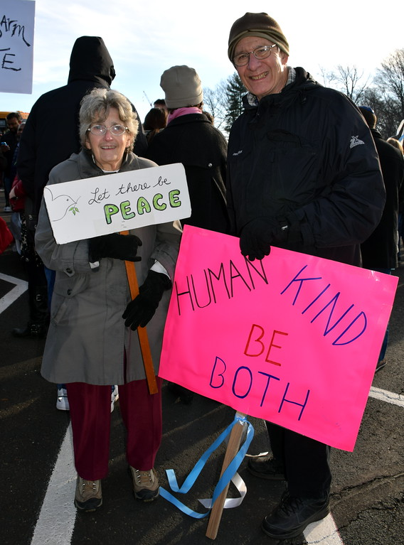 . Jenny and Pete Duskey take part in the Wissahickon Faith Community\'s Solidarity WalkJan. 15. Debby High - For Digital First Media