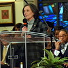 Montgomery County Commissioner sChairwoman Dr. Valerie Arkoosh speaks after receiving the Justice and Peace Award at the Wissahickon Faith Community's 21st annual communitywide service Jan. 15. Debby High - For Digital First Media