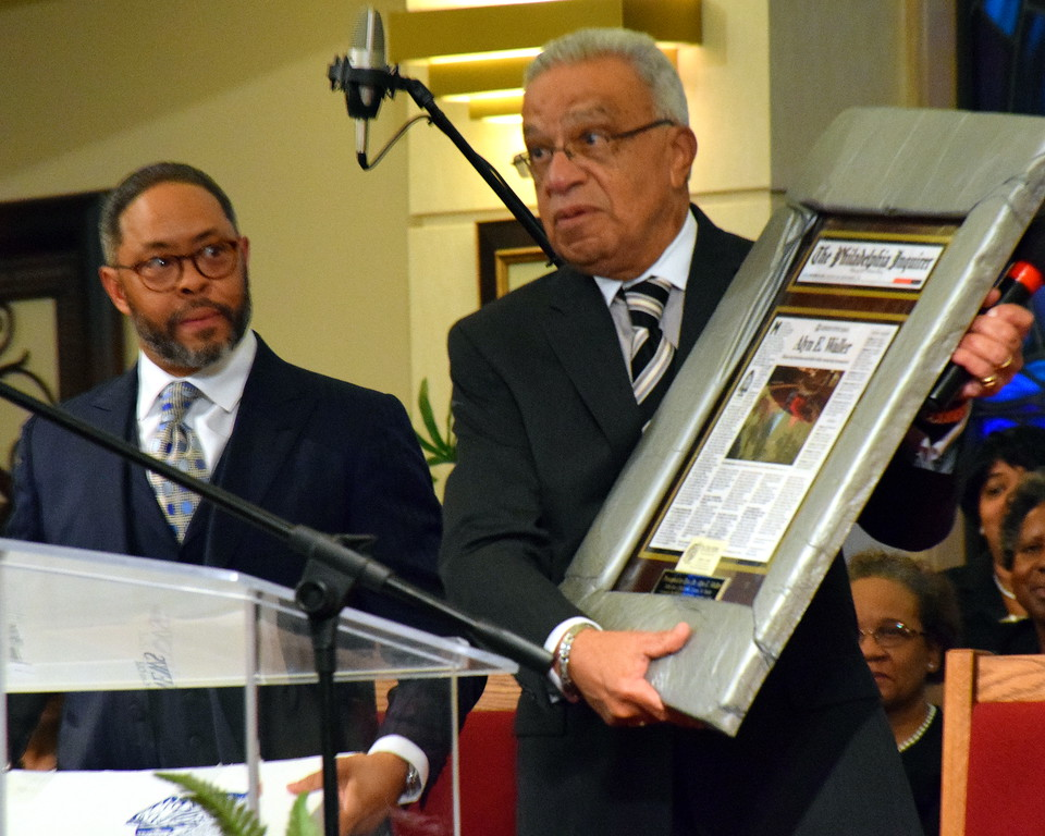 . The Rev. Charles W. Quann speaks at the Wissahickon Faith Community\'s 21st annual communitywide service Jan. 15. Debby High - For Digital First Media