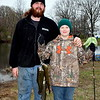 Jacob Westdyke reeled in the most amount of fish at the annual Pennridge Fishing Derby Saturday, April 9. He is pictured with his cousin, Nathan Conrad. Debby High — Digital First Media