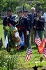 Reenactors with Baker Fisher Camp #101 stand at attention at the Memorial Rose Garden during the Historical Society of Montgomery County Memorial Day observance May 28, 2016. / BOB RAINES--DIGITAL FIRST MEDIA