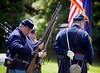 Reenactors with Baker Fisher Camp #101 prepare to fire a salute during the Historical Society of Montgomery County Memorial Day observance May 28, 2016 / BOB RAINES--DIGITAL FIRST MEDIA