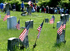 Participants and guests move to Major General Winfield Scott Hancock's mausoleum past the graves of other Civil War soldiers during the Historical Society of Montgomery County Memorial Day program at Montgomery Cemetery May 28, 2016. / BOB RAINES--DIGITAL FIRST MEDIA