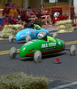 Drivers try to make themselves as aerodynamic as possible to reduce drag in the Indian Valley Soap Box Derby on Main St., Souderton June 4, 2016. / BOB RAINES--DIGITAL FIRST MEDIA