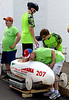 All cars pass through the weigh station to assure that competitors are evenly matched during the Indian Valley Soap Box Derby on Main St., Souderton June 4, 2016. / BOB RAINES--DIGITAL FIRST MEDIA