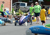 Liam Kelly wheels his racer through the pit area on Central Ave. during the Indian Valley Soap Box Derby on Main St., Souderton June 4, 2016. / BOB RAINES--DIGITAL FIRST MEDIA