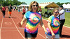 Suzette Gardner, left, and Marcia Murphy from Harleysville Savings Bank walk in the North Penn Relay for Life at the high school's Crawford Stadium June 18, 2016. __ BOB RAINES--DIGITAL FIRST MEDIA