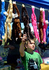 Joachim Bushelli tries to decide which monkey to get at the Hug a Monkey booth during the North Penn Relay for Life June 18, 2016. __ BOB RAINES--DIGITAL FIRST MEDIA