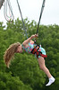 Taylor Weaver finishes a somersault on the bungee jump ride at the Perkasie Fire Company Carnival June 28, 2016. _ BOB RAINES--DIGITAL FIRST MEDIA