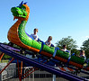 Children ride the dragon roller coaster at the Ambler Kiwanis Carnival June 29, 2016. _ Bob Raines | Digital First Media