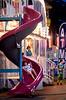 A girl spirals down the slide as she exits the fun house at the Southampton Days fair July 6, 2016. _ Bob Raines | Digital First Media