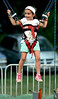 A girl has fun on the bungee cord bounce at the Southampton Days fair July 6, 2016. _ Bob Raines | Digital First Media