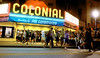 """The re-enactment at the Colonial Theater, Phoenixville, of the runout scene in the 1958 sci-fi movie, """"The Blob."""" _ Bob Raines 