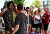 Bob Raines--Digital First Media<br /> Dressed as a ghoul Justin Miller draws stares from other further back in line as they wait for the Colonial Theater to open its doors for Blobfest July 8, 2016.