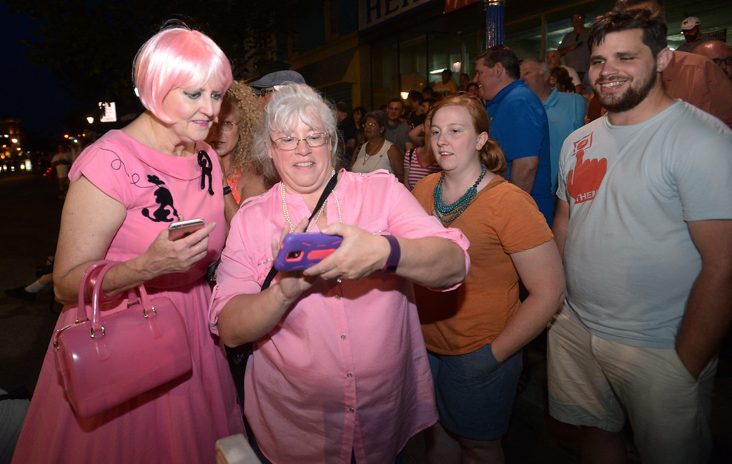 . Some people dress in period costumes afor the 2016 Blobfest at the Colonial Theater, Phoenixville July 8, 2016._ Bob Raines | Digital First Media