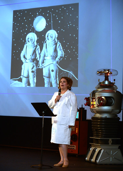 Dr. Ima Hack describes her new sideline, Constellation Cruise Line during Blobfest 2016 at the Colonial Theater, Phoenixville July 8, 2016._ Bob Raines | Digital First Media