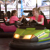 Two girls drive bumper cars at Annual Sellersville Fire Department Carnival July 13, 2016. _ Bob Raines | Digital First Media