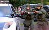 Members of Montgomery County Eastern Region S.W.A.T. put on a demonstration at the Horsham Night Out Aug. 2, 2016. / BOB RAINES--DIGITAL FIRST MEDIA