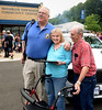 Gary Bissig, left, presents an award to Jim and Diane Rowland for stepping up to fill a vacancy at Horsham Community Policing Services during the Horsham Night Out Aug. 2, 2016 / BOB RAINES--DIGITAL FIRST MEDIA