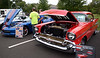 A 2014 Chevrolet Corvette Stingray Z51 sits next to a 1957 Chevrolet Bel Air 2-door hardtop at the Aug. 2, 2016 Horsham Night Out. / BOB RAINES--DIGITAL FIRST MEDIA