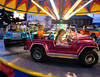 Children zoom around a carousel in jeeps at the Dublin Firemen's Fair Aug. 12, 2016.  |  BOB RAINES--DIGITAL FIRST MEDIA