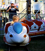 Andrew Helffrich, 4, drives the Space Train at the Upper Gwynedd Carnival Sept. 8, 2016.  (Bob Raines--Digital First Media)