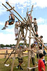 (Bob Raines--Digital First Media)   <br /> Boy Scout Troop 98 constructed a scout-powered, wooden ferris wheel for the Wings n Wheels event Sept. 10, 2016 which benefits Angel Flight East.