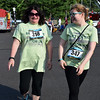 Debby High — For Digital First Media<br /> Janice Greg and Sarah Turowski take part in Eastern Montgomery County Chamber of Commerce's fourth annual Race for the Bottom Line 5K.
