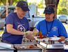 (Bob Raines--Digital First Media)   <br /> Carol Habre, left, ladles lentils into the dinner order Angie Draghici is assembling for a patron at the Fourth Annual International Food Fest at St. Philip's Orthodox Church Sept. 16, 2016.