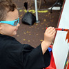Debby High — For Digital First Media<br /> Zane Sipe, 3, of Sellersville shares his artistic talent at the Pennridge Gallery of the Arts Sunday, Sept. 18.