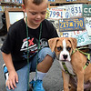 Debby High — For Digital First Media<br /> This young boy makes a friend at the Pennridge Gallery of the Arts Sunday, Sept. 18.