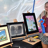 Anna Gentile places first in the junior artist contest at the Pennridge Gallery of the Arts Sunday, Sept. 18.  Debby High — For Digital First Media