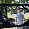 "Artist Greg Pettie, of Telford, displays ""Wood Frame of Autum Shadows"" at the 2016 SeptemberFest in James Memorial Park in West Rockhill Sunday, Sept. 25.  Debby High — For Digital First Media"