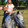 Autumn Sellers, of Sellersville, rides Dakota of Happy Hoofers at the 2016 SeptemberFest in James Memorial Park in West Rockhill Sunday, Sept. 25.  Debby High — For Digital First Media