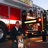 Joe & Penny took their evening stroll to enjoy Perkasie Fire Dept Open House on Thursday, October 13, 2016. photo by Debby High for Digital First Media  Debby High — For Digital First Media