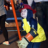 Jonathan Zimmerman, 5, learns to turn a switch for firefighters during the Perkasie Fire Company's open house Thursday, Oct. 13.  Debby High — For Digital First Media