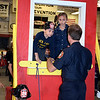 Children climb out of a window in a drill during the Perkasie Fire Company's open house Thursday, Oct. 13.  Debby High — For Digital First Media