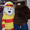 Sparky and Smokey the Bear pose together during the Perkasie Fire Company's open house Thursday, Oct. 13.  Debby High — For Digital First Media