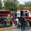 Despite the rain, the firetruck rides are offered during the Sellersville Fire Department's annual open house event Saturday, Oct. 22.  Debby High — For Digital First Media