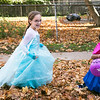 "Jessica McMannus, 8, runs through the roadside leaves with Isabella Schuller, 3, during the East Cheltenham Halloween Parade Oct. 29. Jessica and Isabella met at the parade, becoming fast friends after discovering that they were dressed as sisters Elsa and Anna from Disney's ""Frozen.""  Rachel Wisniewski — For Digital First Media"
