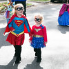 Sisters Ashley, 6, left, and Kayla Bruce, 4, dress as Superman and Wonder Woman.  Rachel Wisniewski — For Digital First Media
