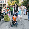 Theresa Wood, center, walks with her son, Mason, 2, niece Kayla, 4, and dog Willow in the East Cheltenham Halloween Parade Oct. 29.  Rachel Wisniewski — For Digital First Media