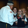 Sixth-grade students from many local schools meet with veterans after the annual Veterans Day program at Strayer Middle School Friday, Nov. 11.  Debby High — For Digital First Media